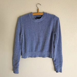 Super Soft and Cozy Cropped Sweater Baby Blue